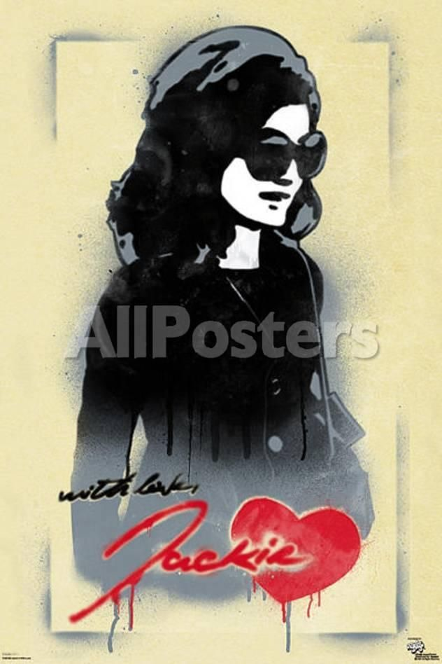 Pop Art Poster Berguna Jackie O with Love Pop Art Poster by Ronald Martinez People Poster