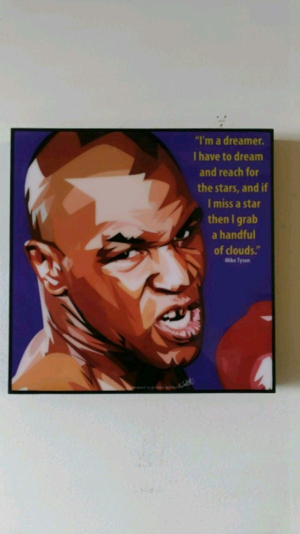 Pop Art Poster Hebat Used Famous Pop Art Mike Tyson W Famous Quote for Sale In New York