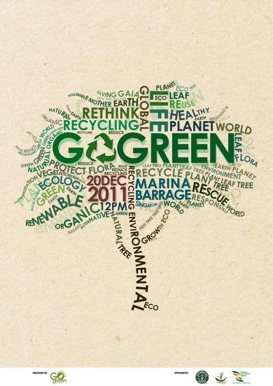 contoh poster adiwiyata go green lingkungan hidup hijau eco x ego