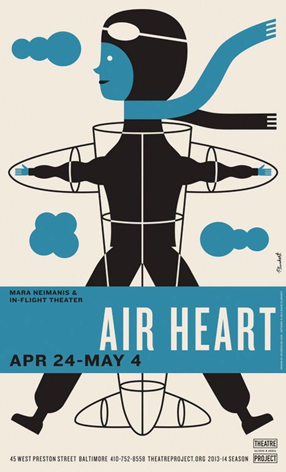 Poster Air Menarik Baltimore theatre Project Posters 2013 2014 Season Graphis