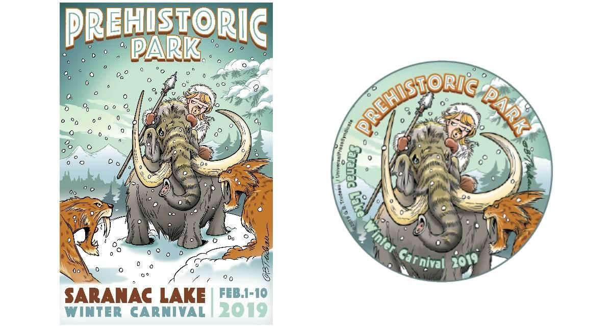 Poster Angka Terhebat buttons Posters the Saranac Lake Winter Carnival