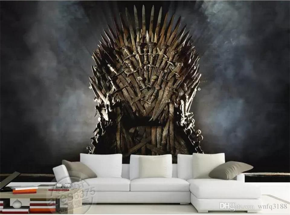 custom size 3d photo wallpaper living room mural poster of iron throne song of ice and fire painting background wallpaper non woven sticker top wallpapers