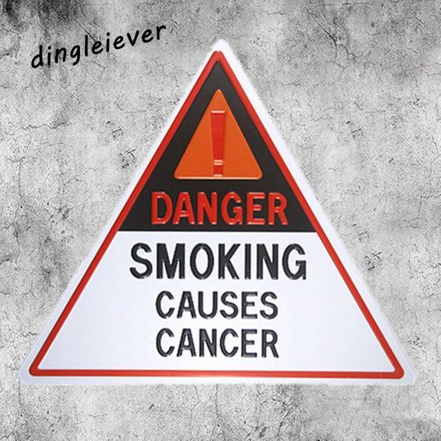 bahaya merokok menyebabkan kanker kopi restoran toko tanda untuk dinding cetak poster