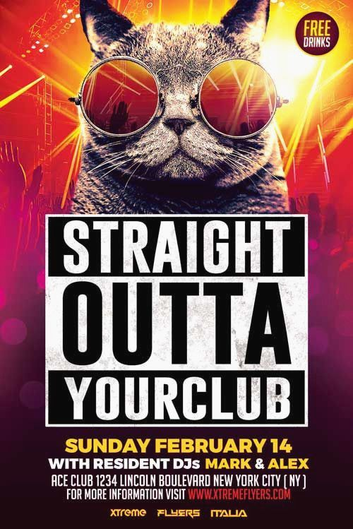 Poster Designs Menarik Club Flyer Background Templates Digital Paredise