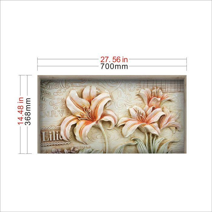 Poster Dinding Terhebat Stereo Bunga Pag Sticker 3d Meja Stiker Dinding Decals Rumah Dinding