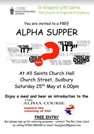 Poster Editor Berguna Alpha Supper Network Suffolk