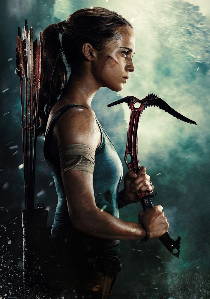 Poster Film Action Baik tomb Raider Movie Photo Print Poster Film Art Alicia Vikander Lara