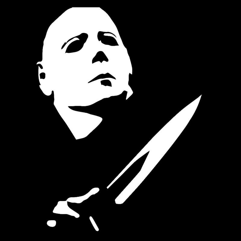 2019 wholesale classic horror movie characters killer michael myers cause hair bone then whiz car sticker for window bumper vinyl decal from bulangying