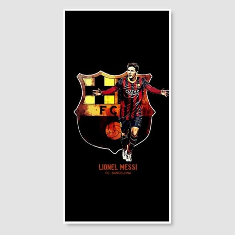 messi fc barcelona door poster artist syamantak dubey postergully