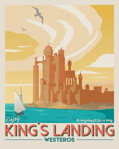 Poster Game Berguna King S Landing Travel Poster the Seventh Art Shop Game Of