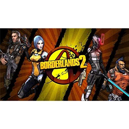 borderlands 2 silk print poster 62cm x 35cm 25inch x 14inch silk printing 0d 8b4c amazon co uk kitchen home