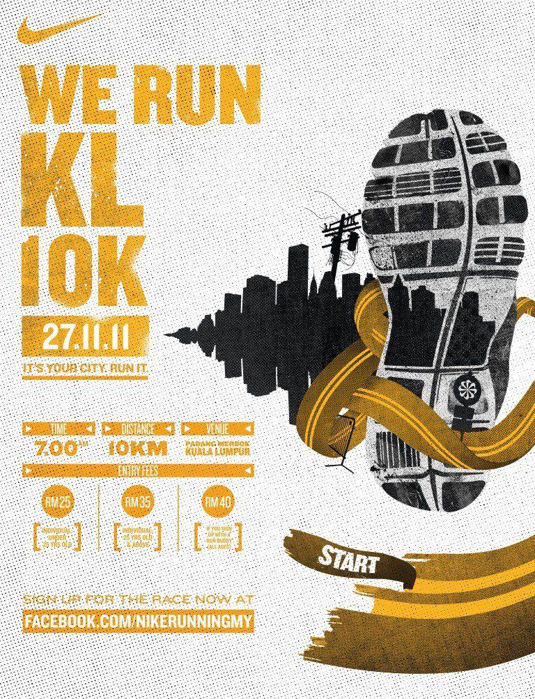 Poster Gaya Hidup Sihat Menarik More events Registration the Running Deo