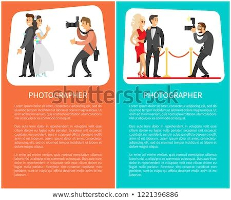 Poster Hari Kemerdekaan Berguna Wedding Photographer Paparazzi Posters Text Bride Stock Vector