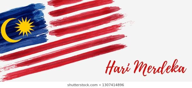 malaysia independence day background with grunge painted flag of malaysia hari merdeka holiday