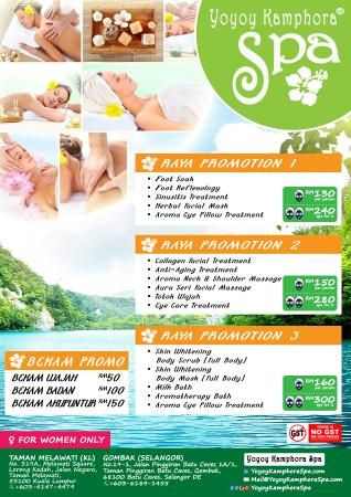 Poster Hari Raya Menarik Relaxing Spa Promotion Special for Hari Raya Aidilfitri 2015