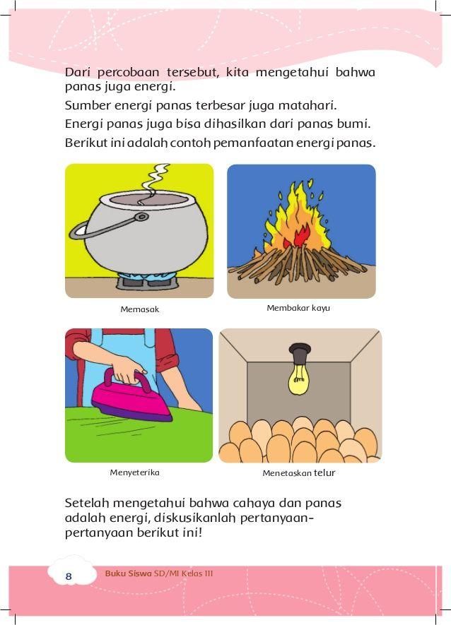 Poster Hemat Energi Air Menarik Energi Dan Perubahannya Buku Siswa Kelas 3 Tema 7