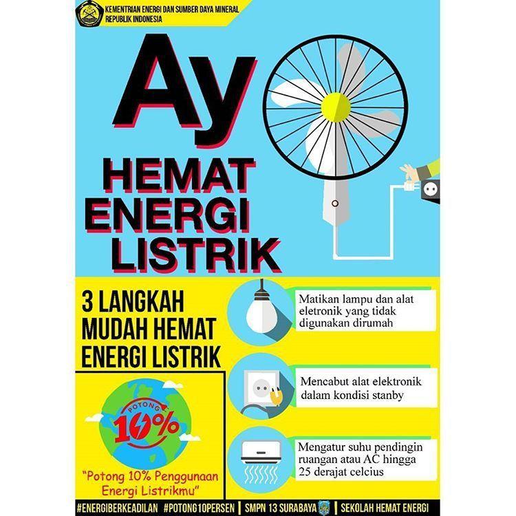 Poster Hemat Energi Listrik Berguna Senarai Terbesar Poster Hemat Energi Listrik Yang Power Dan Boleh Di