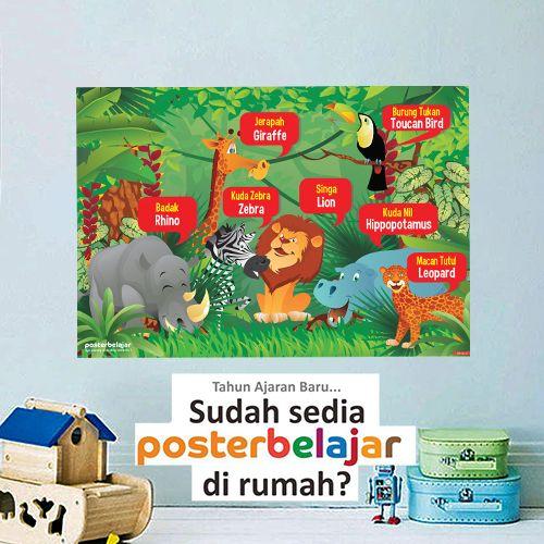 Poster Hewan Langka Menarik Jual Produk Mainan Poster Edukasi Hewan Murah Dan Terlengkap Bukalapak