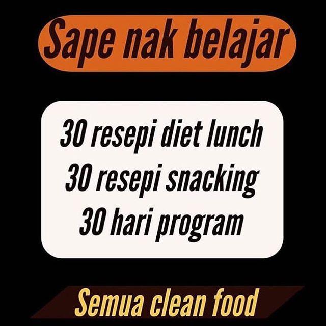 siapa nak belajar d 30 hari meal plan lengkap d 30 resepi snacking d 30 hari combo workout d ad d boleh klik biolink saya untuk anda kurus di pagi