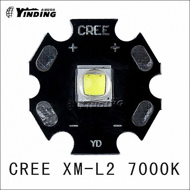 diy logo 5pcs cree xlamp xm l2 t6 u2 u3 cold white 0d 7000k 10w high