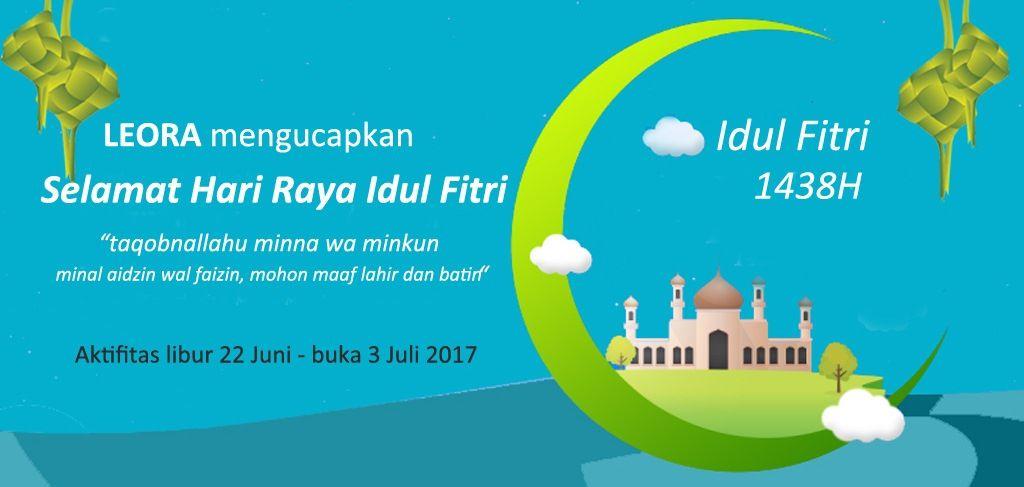 selamat hari raya idul fitri 1438 poster