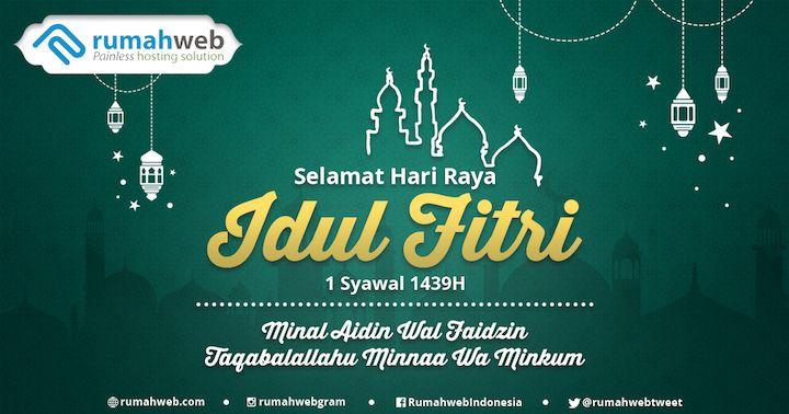 Poster Idul Fitri Penting Pengumuman Layanan Selama Libur Lebaran 2018