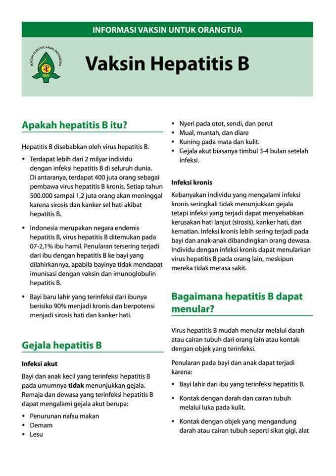 vaksin hepatitis b hepatitis b