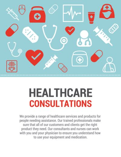 healthcare poster infographic template