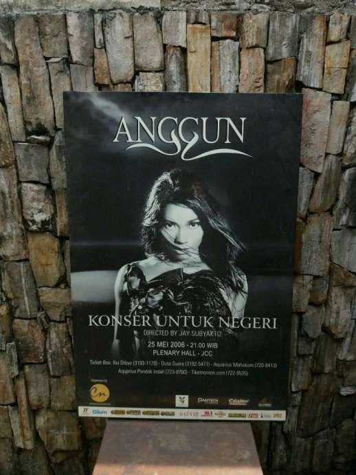 Poster Jadul Terhebat Arsip Poster Jadul Besar Konser Tunggal Anggun C Sasmi Antik