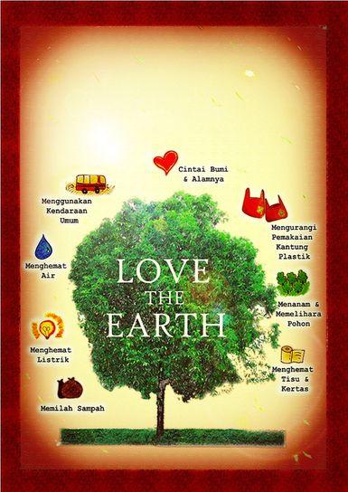 contoh desain poster lingkungan paling menarik