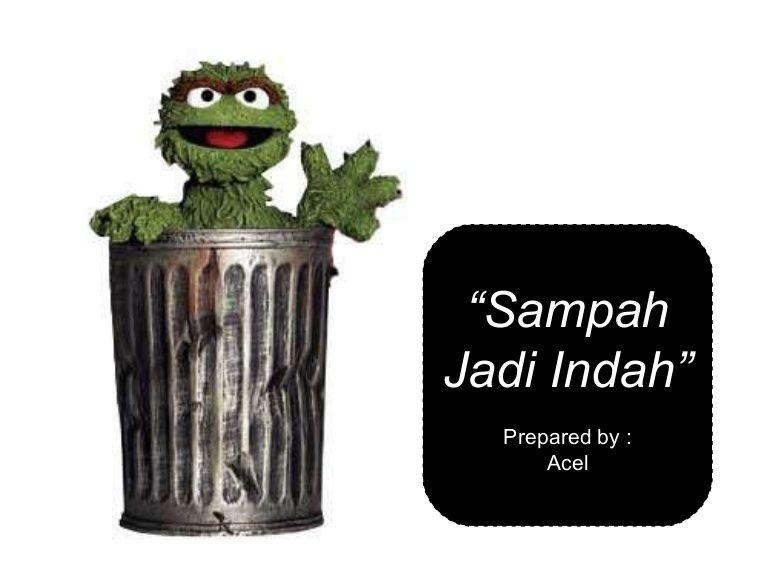 Poster Kebersihan Lingkungan Penting Sampah Jadi Indah