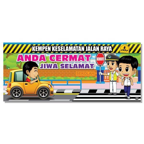 banner kempen keselamatan jalan raya pascal marketing