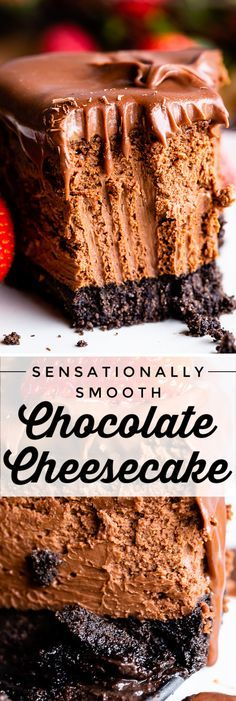 sensationally smooth chocolate cheesecake from the food charlatan this silky smooth chocolate cheesecake may be