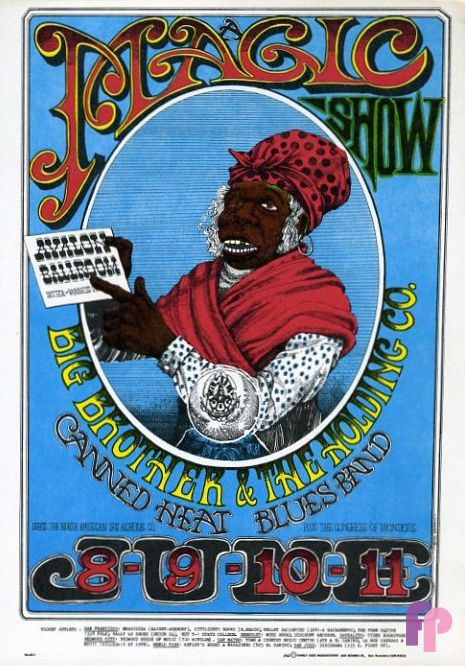 Poster Konser Musik Baik Classic Poster Big Brother and the Holding Company at Avalon