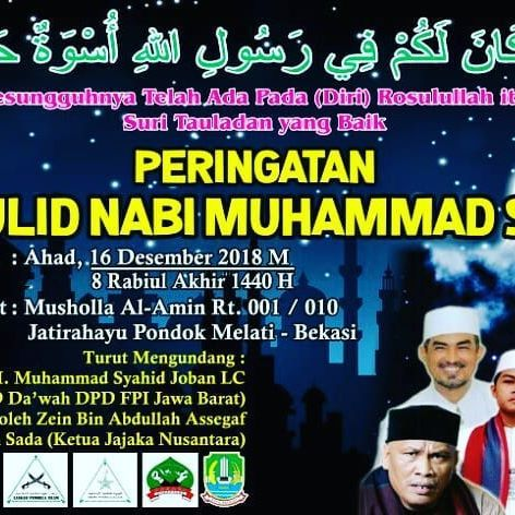 Poster Maulid Nabi Penting Infomajelisbekasi Hashtag On Instagram Insta Stalker