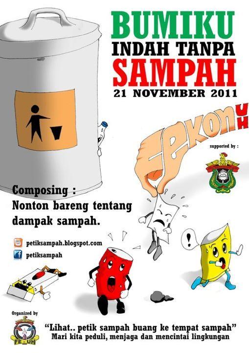 Poster Menjaga Lingkungan Power Mari Peduli Lingkungan