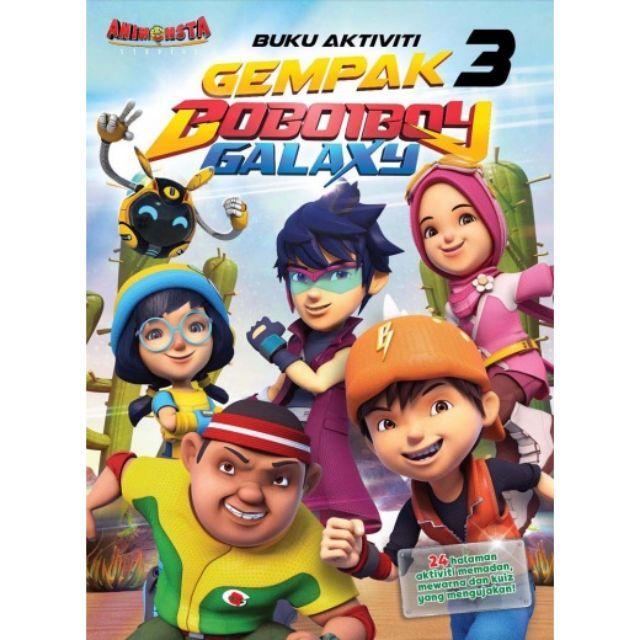 Poster Mewarna Boboiboy Menarik Boboiboy Buku Aktiviti Kembara Angkasa Boboiboy Galaxy 3 Shopee