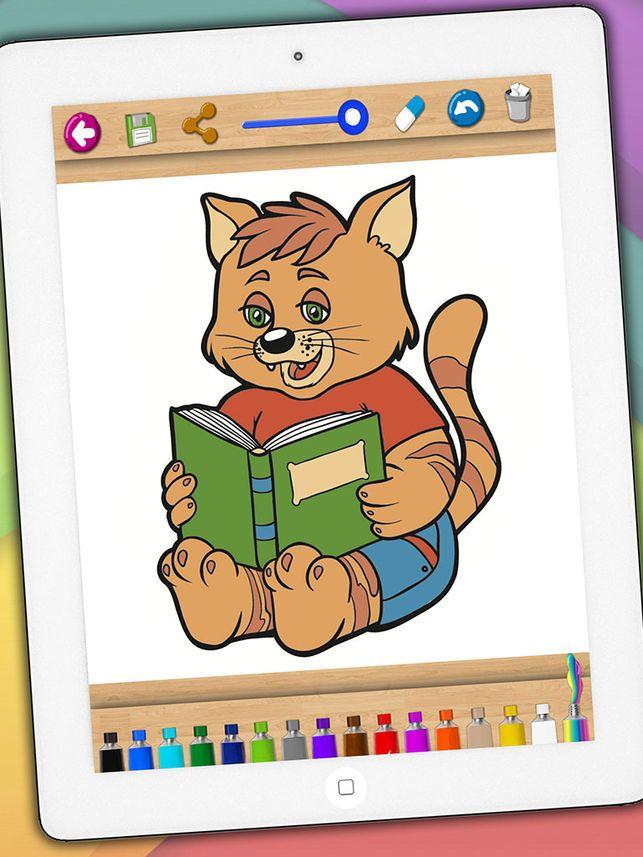 kucing cat kucing indah mewarna buku di app store