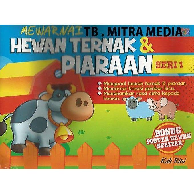 poster mewarna hewan bernilai mewarnai hewan ternak piaraan seri 1 kidsbook shopee indonesia of poster mewarna hewan jpg