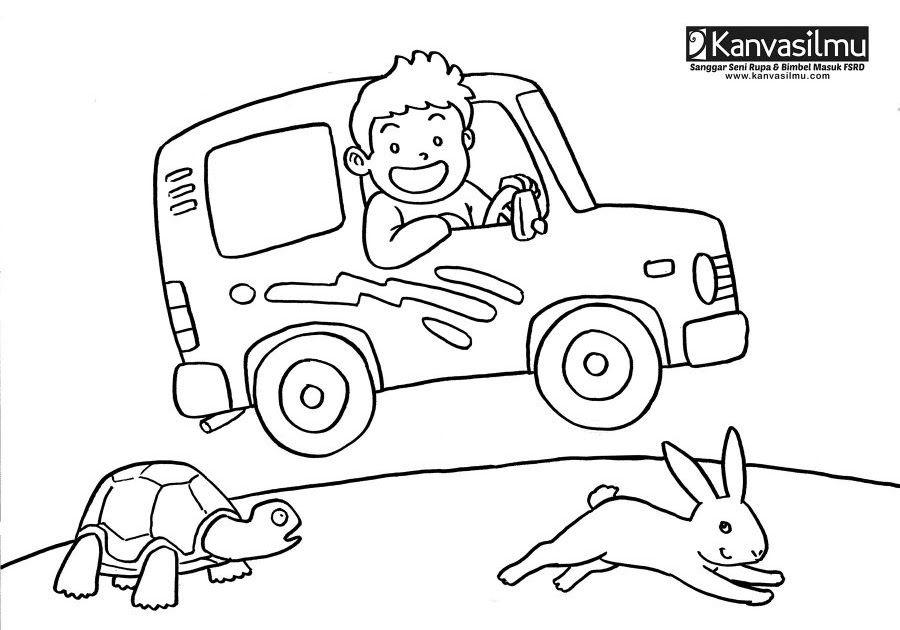 Poster Mewarna Ikan Hebat Contoh Gambar Mewarnai Mobil Balap Pewarna T
