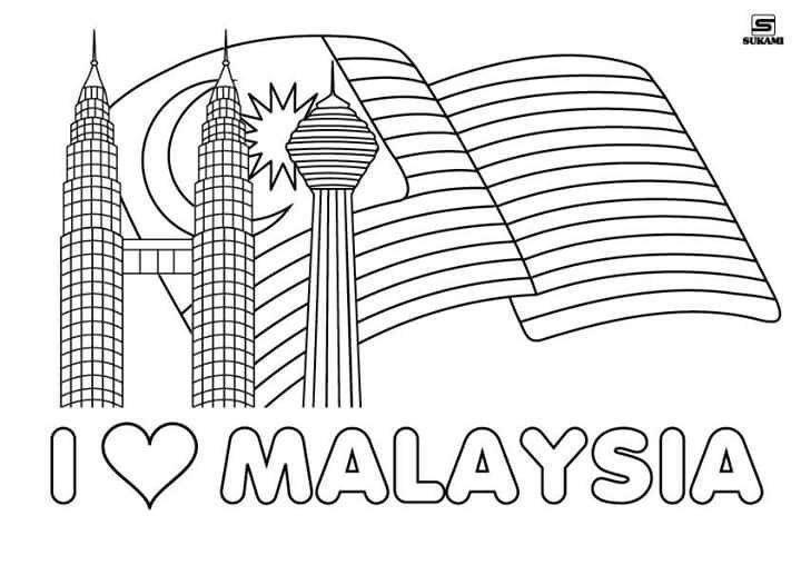 bendera malaysia gambar mewarna pertainin