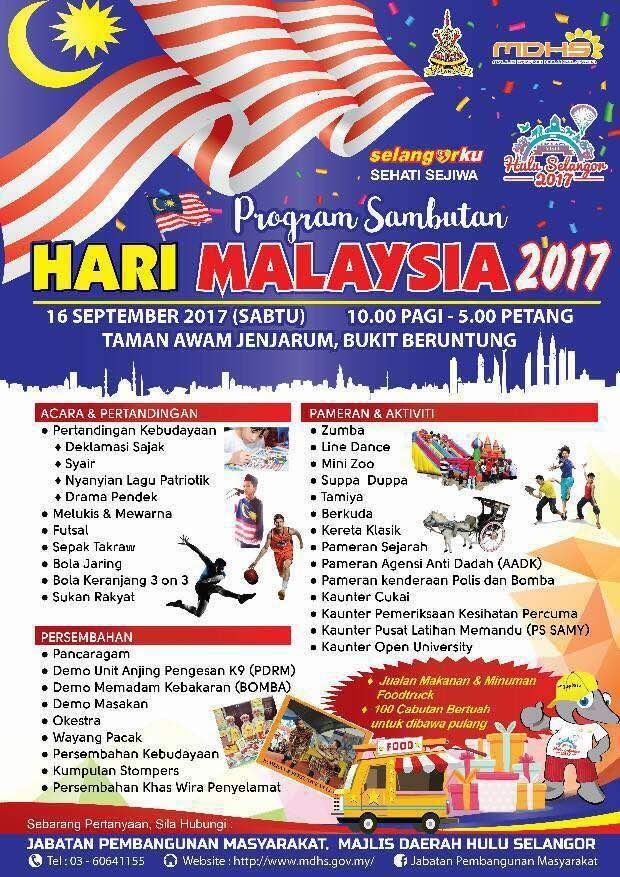 program sambutan hari malaysia 2017 portal rasmi majlis daerah hulu selangor mdhs