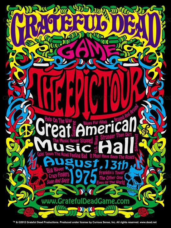 Poster Musik Bernilai Pin by Kirk ford On Deadhead Grateful Dead Poster tour Posters