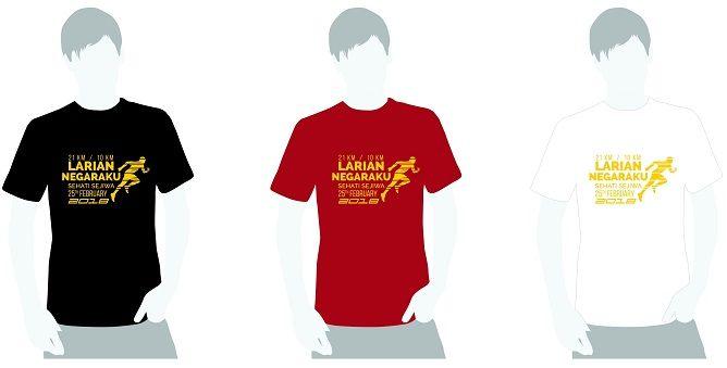 larian negaraku sehati sejiwa tshirt design