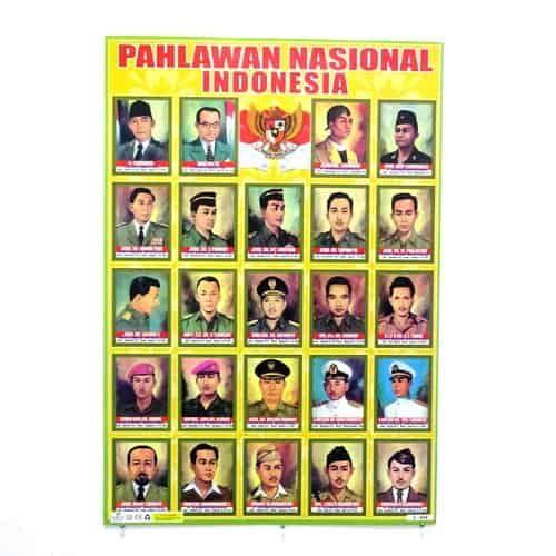 Poster Pahlawan Terhebat Poster Pahlawan Nasional Indonesia Pusaka Dunia