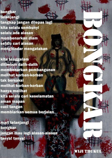 poster puisi wiji thukul