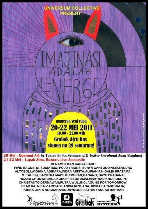 poster pameran seni rupa hebat pameran seni rupa imajinasi adalah energi mimbar teater indonesia