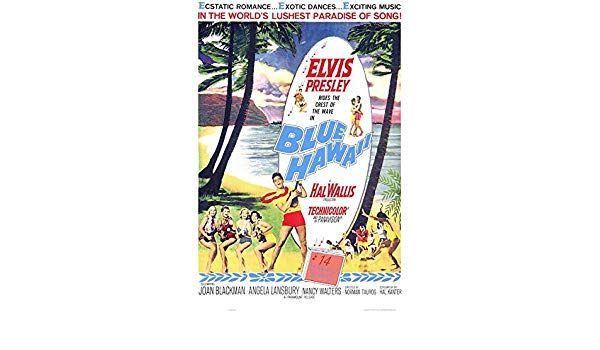amazon com blue hawaii poster movie 11 x 17 inches 28cm x 44cm 1961 posters prints