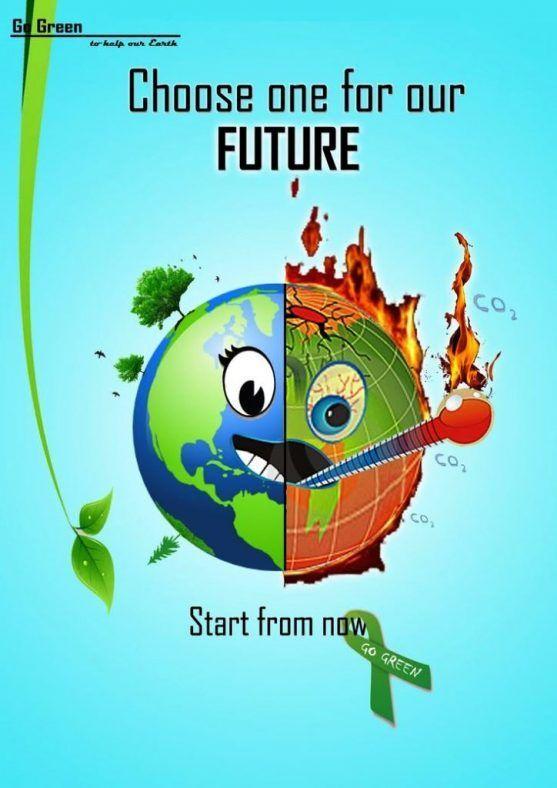 contoh poster lingkungan hidup sehat terhebat reka bentuk grafik berkomputer