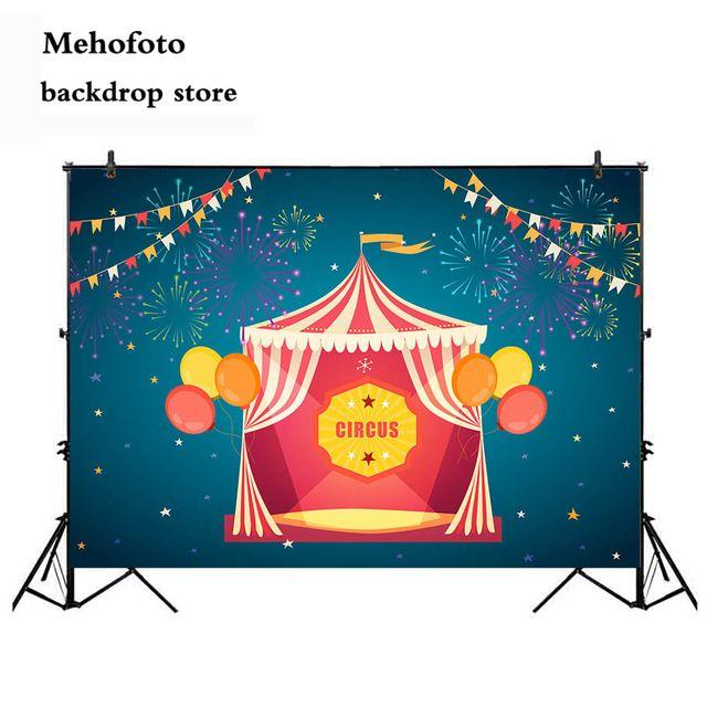 mehofoto sirkus pesta ulang tahun cenderung latar belakang balon bendera latar belakang foto untuk fotografi kembang